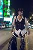 el vaquero de la mission (Super G) Tags: nikon306 diadelosmuertos diadelosmuertossf themission sanfrancisco man cowboy vaquero hat facepaint neon night candid 2017