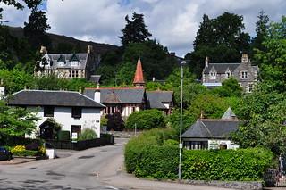 Villas, Strathpeffer, station thermale, Ross and Cromarty, Ecosse, Royaume-Uni.