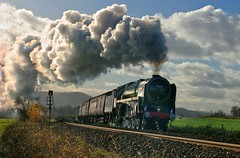 """70013 """"OLIVER CROMWELL"""" (40011 MAURETANIA) Tags: steam brit britannia 70013olivercromwell olivercromwell wistanstow marchersline 1z65 thecheshireman 462 pacific brstandard"""