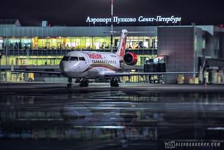 Bombardier CRJ200 Rusline airlines at Pulkovo (LED\ULLI), Saint-Petersburg, Russia