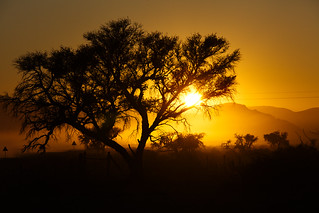 Sunrise in south west Africa