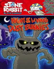 Night of the Living Dust Bunnies (Vernon Barford School Library) Tags: erikcraddock erik craddock stonerabbit stone rabbit friendship friends humour humor humorous rabbits animals dusty dust halloween allhallowseve sciencefiction science fiction graphic novel novels graphicnovel graphicnovels 6 six 6th sixth vernon barford library libraries new recent book books read reading reads junior high middle vernonbarford fictional paperback paperbacks softcover softcovers covers cover bookcover bookcovers 9780375867248 readinglevel grade2 rl2 quick quickread quickreads qr comics cartoons