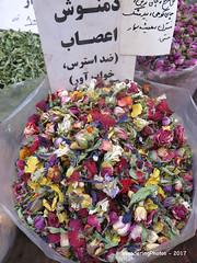 Dried colourful flower petals - Tajrish Bazaar - Tehran Iran (WanderingPJB) Tags: marketsbazaars iran tehran market tajrishbazaar dried flower petal