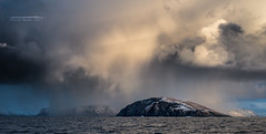 Storm coming! (Squareburn) Tags: hammerfest finnmark norway fjord mountains snow storm seascape nifty50
