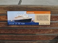 Explorer of the Seas - Pacific Coastal Cruise (Jasperdo) Tags: sanfrancisco california exploreroftheseas cruise cruising cruiseterminal pier27 rotterdam vintageship sign display