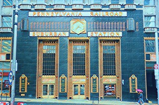 Philadelphia Pennsylvania - Pennsylvania Railroad Suburban Building  - Historic Art Deco