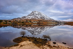 """Errigal Mountain & Dunlewey Lake"" (Gareth Wray - 10 Million Views, Thank You) Tags: mount errigal mountain famous derryveagh mountains landscape snow capped snowing winter ice christmas xmas view gweedore county donegal ireland irish field countryside nature grass heather mts mt gareth wray photography nikon d810 nikkor 1424mm wide angle lens scenic drive landmark tourist tourism location visit sight site dunlewey lake lough church chapel poison poisoned glen valley grassy summer lakescape moor day photographer vacation holiday europe grassland sky plant clady river forest water"