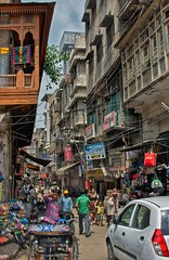 India busy street scene (Pejasar) Tags: india market candid life people busy scene city street