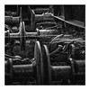 Buffer zone. (Martyn.A.Smith LRPS) Tags: monochrome metalwork buffer link cobweb outdoors railway fujifilm xt2