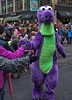Give Me Five (swong95765) Tags: parade costumes dinosaure five handslap street crowd children faces joy happiness