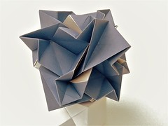Jagged star (ISO_rigami) Tags: modular origami a4 cube polyhedron 3d sid