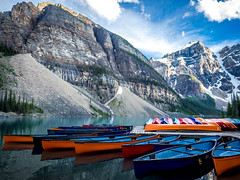 ROCKIES (Dave GRR) Tags: rocky rockies lake moraine alberta canada olympus omd em1 1240