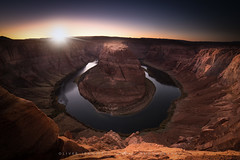 ● horseshoe bend ● arizona ● usa ● (Oliver Jerneizig) Tags: oliver jerneizig oliverjerneizigde wwwoliverjerneizigde oliverjerneizig usa unitedstatesofamerica amerika sunset longexposure night citylights landscape landschaft canon 6d canon6d horseshoebend arizona utah river coloradoriver colorado sondown sunrise