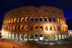 IMG_1078 (AndyMc87) Tags: longtimeexposure longtime blue hour travel rom roma rome colosseum kolosseum ruin architecture canon eos 6d iluminated ilumination bow clouds historical lightstreams car police bluelight