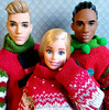 Tis the Season to be Tacky (back2s0ul) Tags: barbie pink top made move fashionistas ken broad comeback camo classic cool ugly christmas sweater ornament