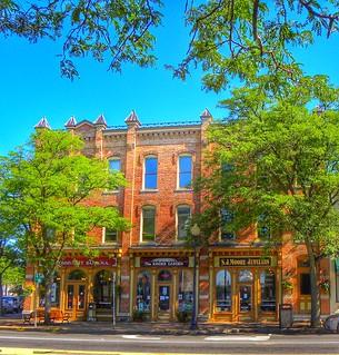 Skaneateles  New York - Historic Block Downtown