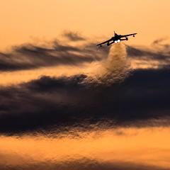 Twilight Departure. (Steve Cooke-SRAviation) Tags: 15sqn panavia raf 500mm tornadogr4 stevecooke marham lightningll tornado sraviation 31sqn canon 100400mm 5d4 tonka