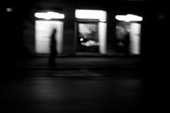 (Stella Trasforini) Tags: streetphotography blur night blackandwhite biancoenero ricohgrii noir monochrome dark light