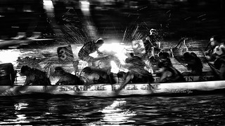 Night dragon boat race
