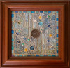 lucky coin (toadranchlady) Tags: mosaicart mixedmediamosaic temperedglass stainedglass foundobjects
