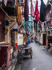 LR Shanghai 2016-807 (hunbille) Tags: birgitteshanghai3lr china shanghai lilong shikumen longtang housing oldcity old city nanshi alley laundry