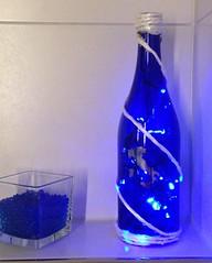 Blu -Blau (Rossella Di Gioia) Tags: relax atmosfera creare fantasia luci prosecco bottiglia blau