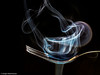 Eine Gabel voll Rauch (J.Weyerhäuser) Tags: rauch studio tinypeople räucherstäbchen gabel blitz