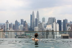 Charlie in Infinity Pool Temple in Kuala Lumper Travel Guide