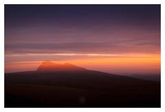 Dartmoor Gold Rush (picturedevon.co.uk) Tags: haytor rock dartmoor devon sunrise le icm blur orange red black color landscape sky clouds countryside morning goldenhour light sun wwwpicturedevon