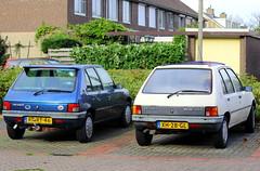 1989 Peugeot 205 GRD 1.8 + 1997 Peugeot 205 Generation 1.4 (Dirk A.) Tags: sidecode4 sidecode5 onk diesel rprt46 xh28gl 1989 peugeot 205 grd 18 1997 generation 14