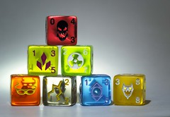 "Macro Mondays - ""Games or Game Pieces"" (Leslie Victor) Tags: img739013 macromondays dicemasters vibrant dice gamesorgamepieces"