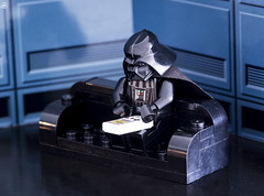 Gameboy time (jezbags) Tags: lego star wars darth vader playing his gameboy nintendo legos toy toys macro macrophotography macrodreams macrolego canon60d canon 60d 100mm closeup upclose