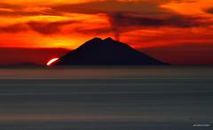 Red Passion (Stromboli Italy) (Arcieri Saverio) Tags: isola volcan red sun sunset vulcano stromboli iddu eolie calabria sicilia rosso sky landscapes paesaggi sud meridione