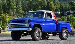 1966 Chevrolet Custom K10 4X4 pickup truck (Custom_Cab) Tags: 1966 chevrolet chevy custom k10 c10 c k 10 4x4 pickup truck 4wd 4 four wheel drive stepside step side blue
