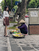 20171107_3668 (lgflickr1) Tags: sidewalk vendor hanoi vietnam street woman girl selling overcast clowdy conicalhat tradition produce