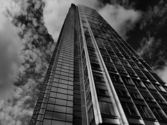 Skyscraper, Financial District, London, England (duaneschermerhorn) Tags: architecture building skyscraper structure highrise architect modern contemporary modernarchitecture contemporaryarchitecture black white blackandwhite blackwhite bw noire noir blanc blanco schwartz weiss