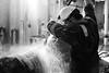 water jetting (Matt Jones (Krasang)) Tags: water jet washing black white worker coveralls hard hat high pressure industrial