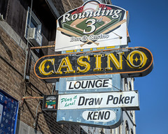 Rounding 3rd (Marion Brite) Tags: southdakota casino poker slots gamble neon sign cards chips bet