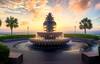 Waterfront Park Sunrise (Curtis Cabana Photography) Tags: waterfrontpark charleston pineapplefountain southcarolina sunrise sunset