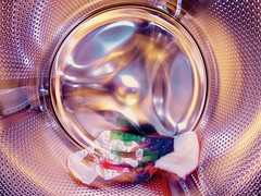 Smile on Saturday: Shiny metals theme (mrsparr) Tags: smileonsaturday shinymetals washingmachine christmasstocking colours colors colourful colorful bright shiny metal indoorphotography creativephotography 52in2017 material humour humor