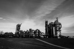Steam-punk dream (Photos by Christopher Percy) Tags: steam punk industrial pipes seattle gasworks park blackandwhite bw steampunk landscape