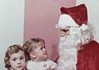 What DoYou Want For Christmas Little Girls? (trugger21) Tags: vintage snapshot photophotograph found christmas santa claus kids girls