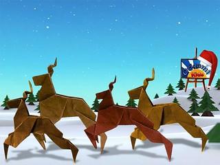 Origami Reindeer by Taiko Niwa