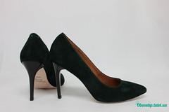 Зеленые замшевые туфли-лодочки (azzafazzara) Tags: туфли обувь зеленый