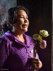 Lotus Lady (Never.Stop.Searching.) Tags: cambodia phnompenh faces people streetscenes