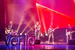 Lone Road Station & Laserforum on the stage with Venlo sign in the foreground - TEDxVenlo 2017 (marcoverch) Tags: entrepreneur personalgrowth tedx conference venlo ted konferenz performance concert konzert music musik stage stufe singer sänger musician musiker band festival popmusic popmusik audience publikum guitarist gitarrist sound klingen song lied light licht publicshow öffentlicheshow celebration feier guitar gitarre energy energie party people menschen cold restaurant dof coth5 ciel grey mirror españa airport christmas loneroadstationlaserforum tedxvenlo2017