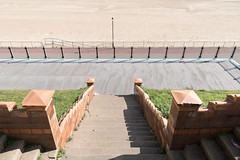Down To The Beach (Number Johnny 5) Tags: lines tamron d750 2470mm streetlamp space empty mundane shadows banal beach steps angles promenade railings nikon patterns deserted gorleston seafront urban documenting seaside