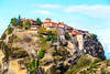 Meteora (CaptSpaulding) Tags: greece meteoramonasteries meteora old religious red monasteries byzantine monks hills mountains sky canon color contrast clouds closeup church grass building landscape tree
