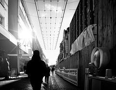 In the streets of Bielefeld (BielePix) Tags: nikonp6000 nikon pointandshoot p6000 kompaktkamera bielefeld germany deutschland nrw ostwestfalen hobbyfotograf amateurphotographer hdr highdynamicrange alltägliches ordinarythings black white schwarz weis einfarbig bw monochrome mono street strase alltag life leben live personen people outdoor photoshop composing digitalart postproduction bearbeitung edit lightroom filter nik collection alienskin photography art fotografie 7dwf