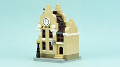 Mini Clock Workshop Building (de-marco) Tags: lego mini town buildings city clock workshop modular
